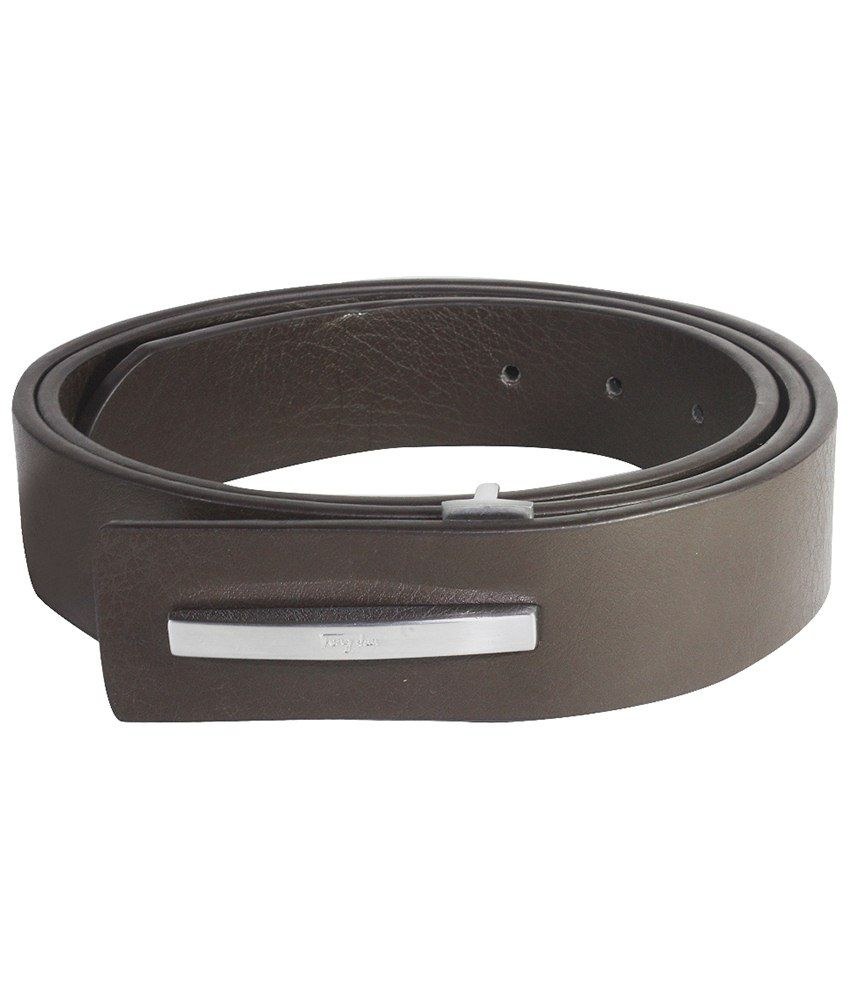 La Decor Brown Formal Non Leather Belt