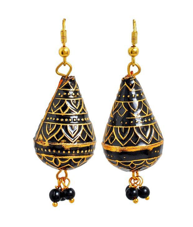 Maayra Charming Antique Hanging Dangle Earrings