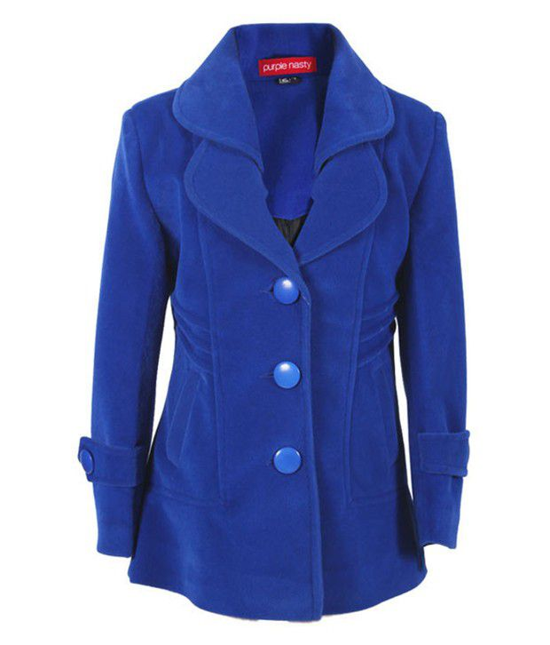 Purple Nasty Blue Woollen Coat