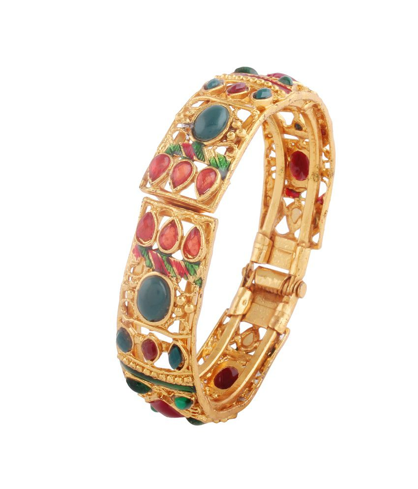 Variation Multicolour Antique Partywear With Colorful Beads Designer Bangle