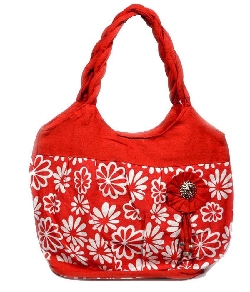 Planet M Red Ladies Handbag
