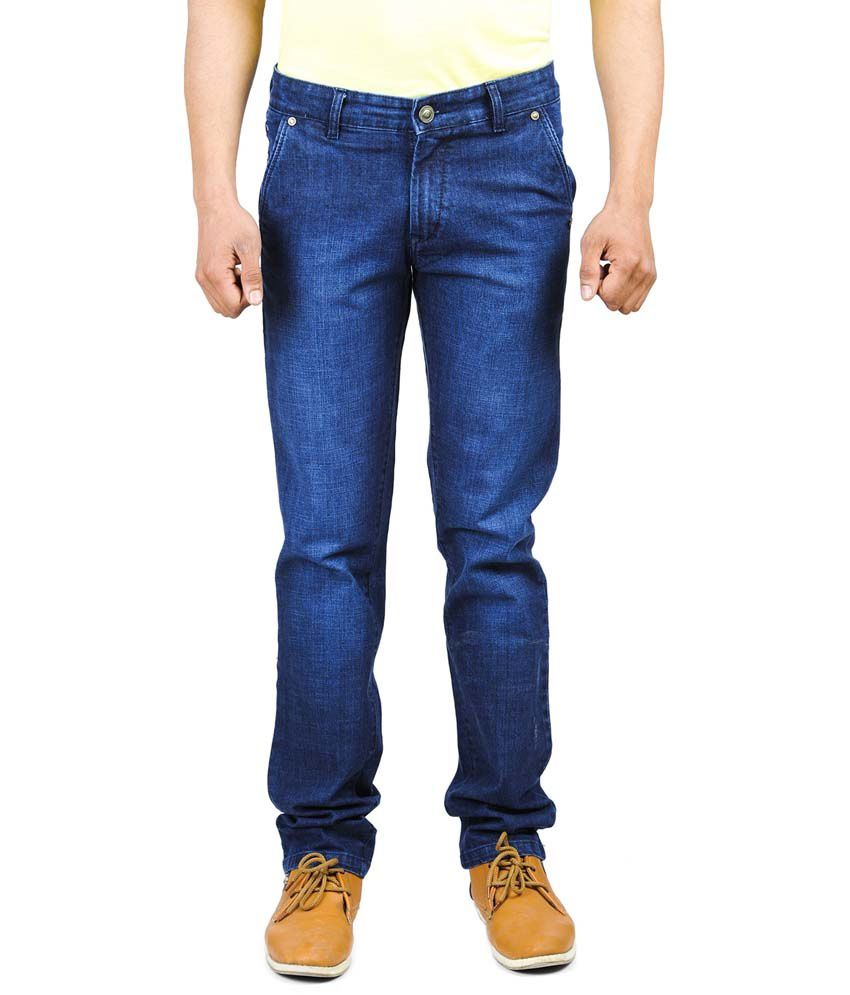 Wintage Blue Regular Fit Cotton Jeans