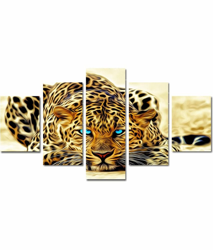 Anwesha's 5 Panel Stretched Canvas Digital Print Wall Painting