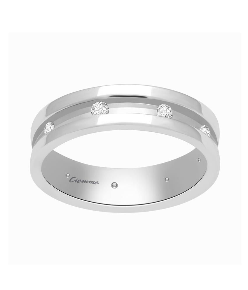 Ciemme Silver Contemporary Free Size Round Rings