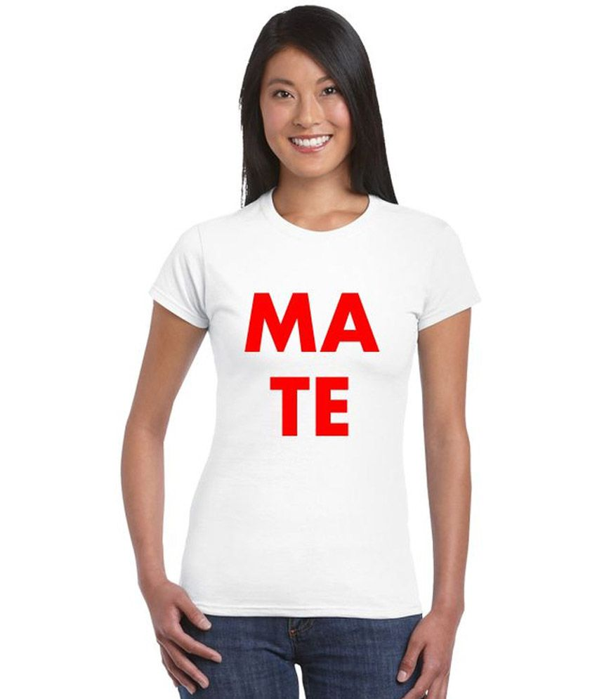 Buy giftsmate white cotton tees online at best prices in for Buy couple t shirts online india