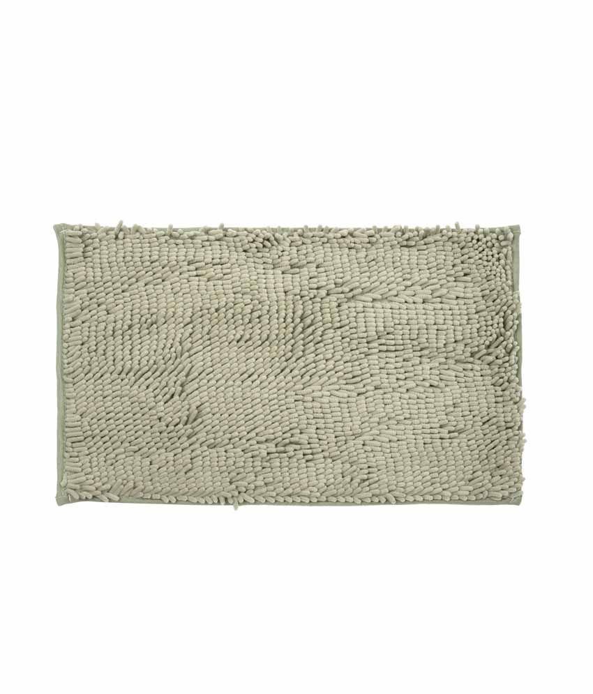Just Linen Chenile Pom Pom Antiskid Steel Floor Mat