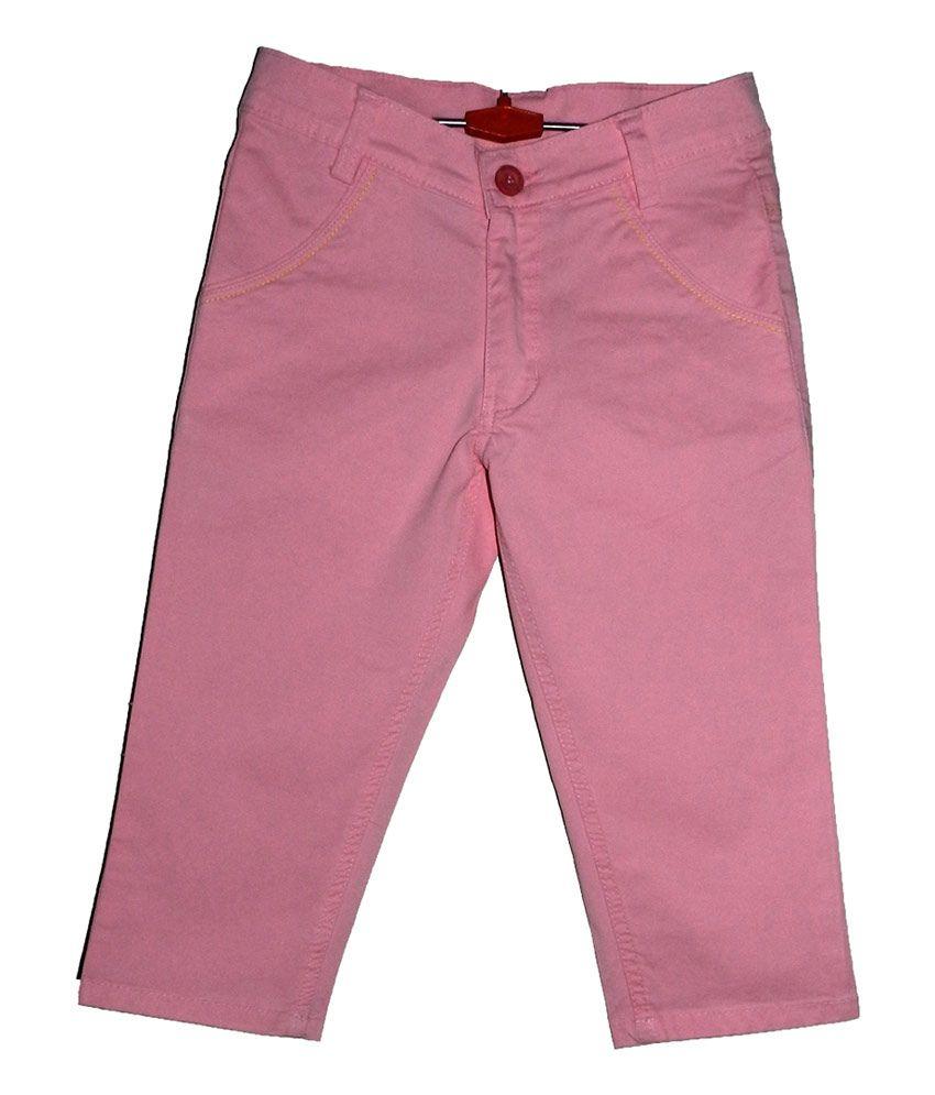 Mcdees Pink Cotton Capri