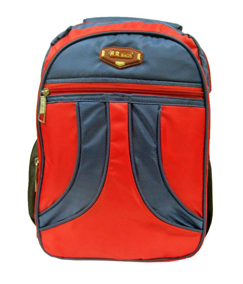 R-dzire Red Polyester Backpack Water Resistant