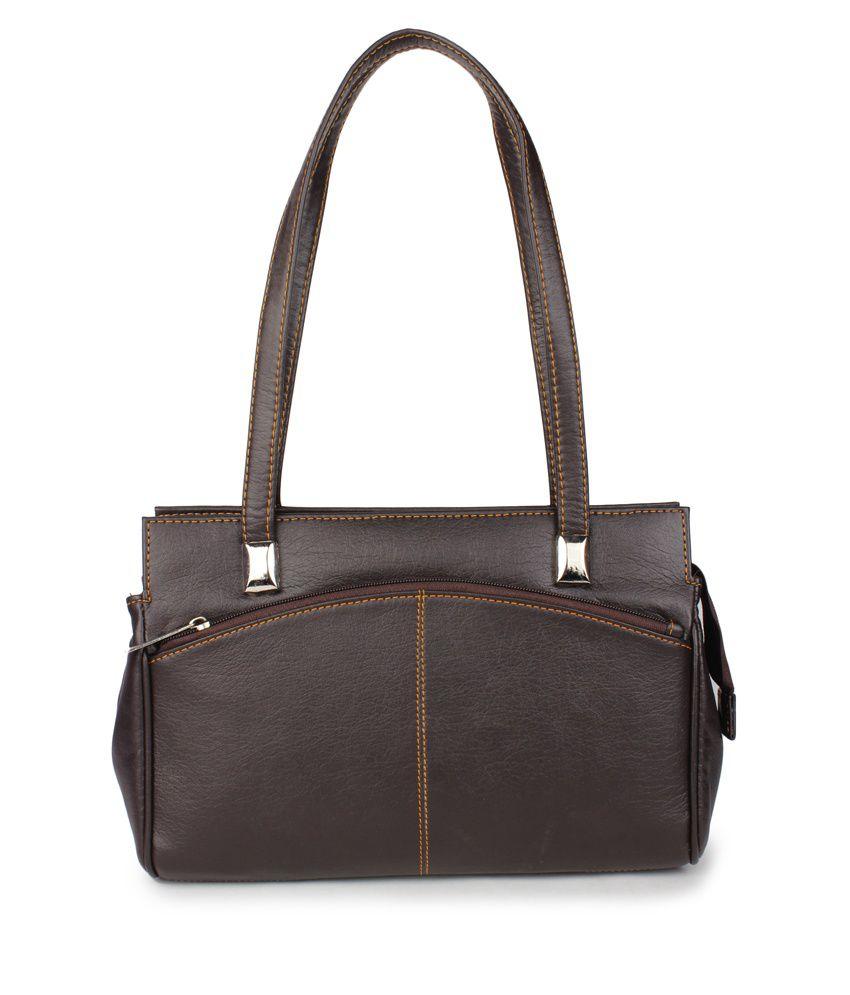 Aris Mart Black Zip Closure Non Leather Shoulder Bag