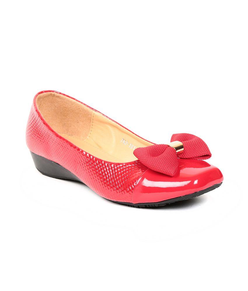 Footloose Footloose Red Flat Casual Ballerinas