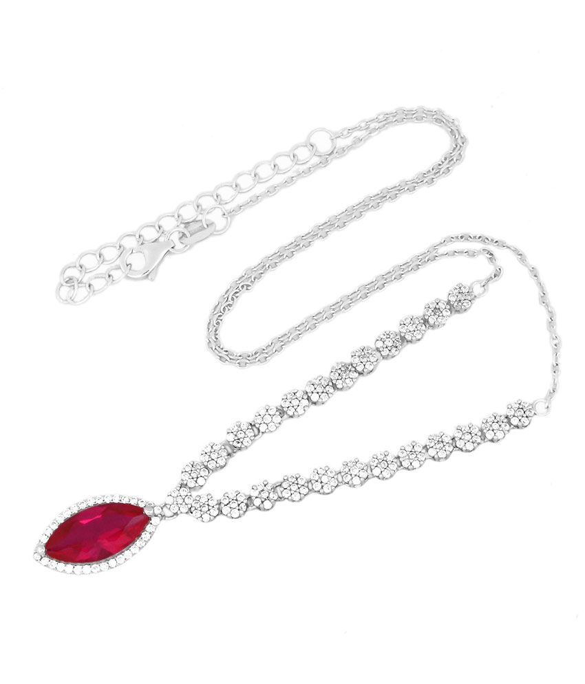 Gemtogems Silver Colour Spark Necklace