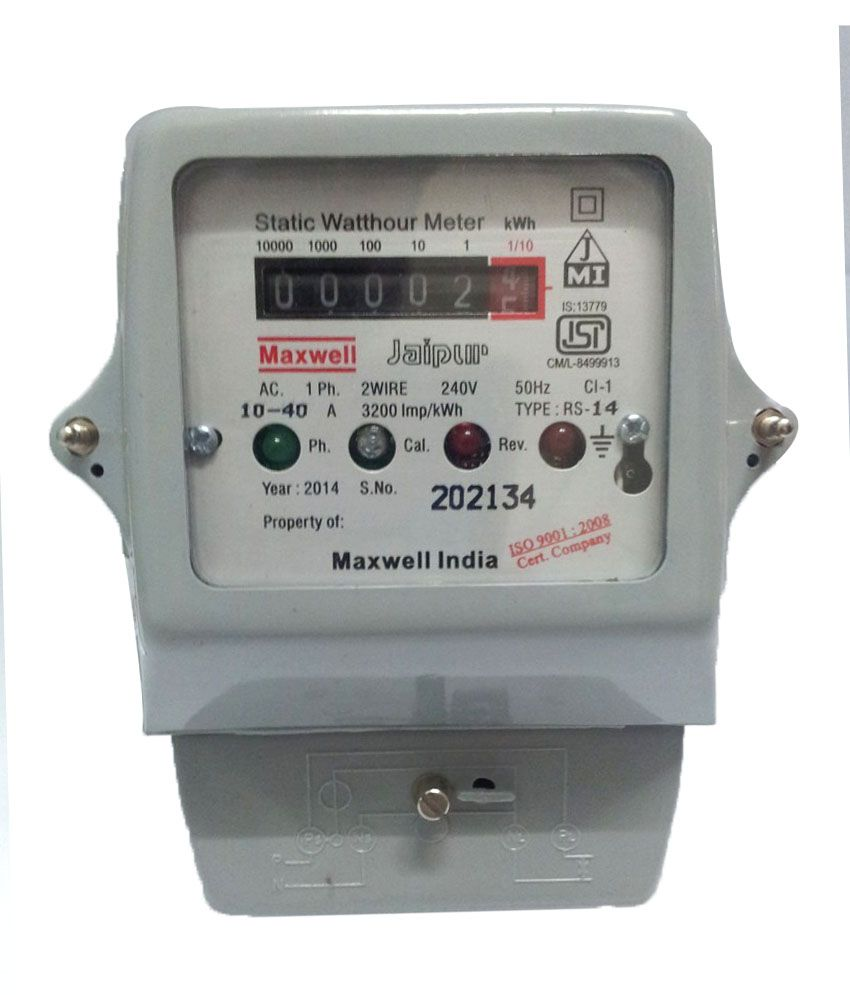 Electrical Phase Meter : Maxwell iso certified unit single phase electrical