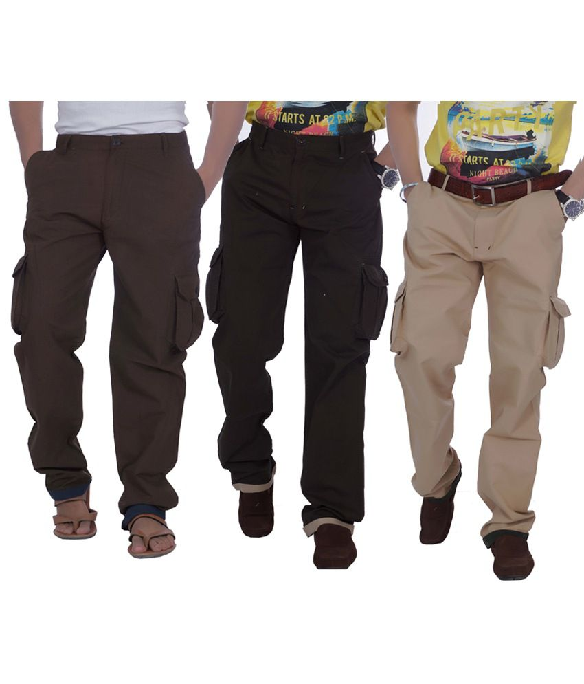 True Fashion Multicolor Cotton Casual Wear Men's Cargo