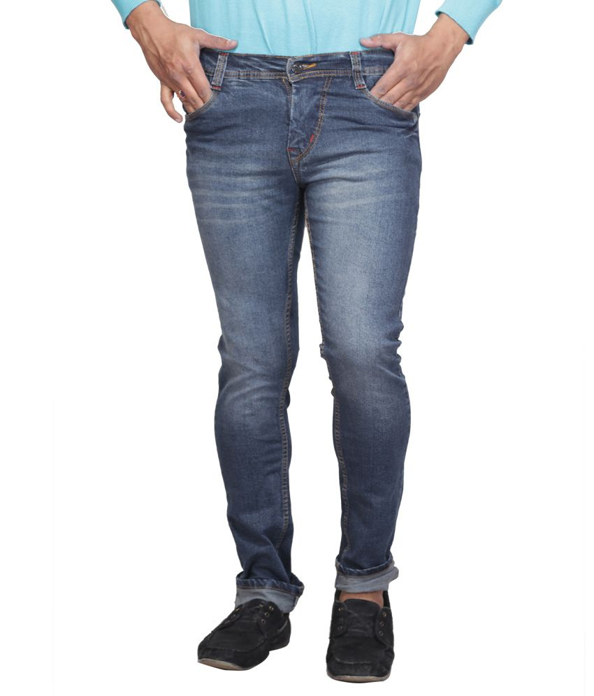 X-CROSS Blue Regular Fit Faded