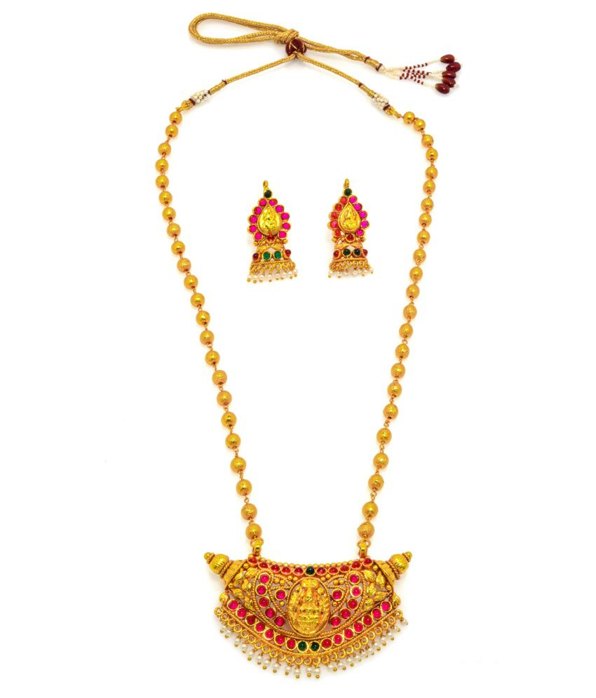 Alankruthi Traditional Gold Plated Copper Necklace Set