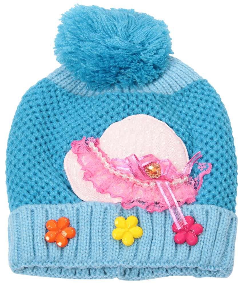 Bizarro.in Striking Blue Woollen Cap For Kids