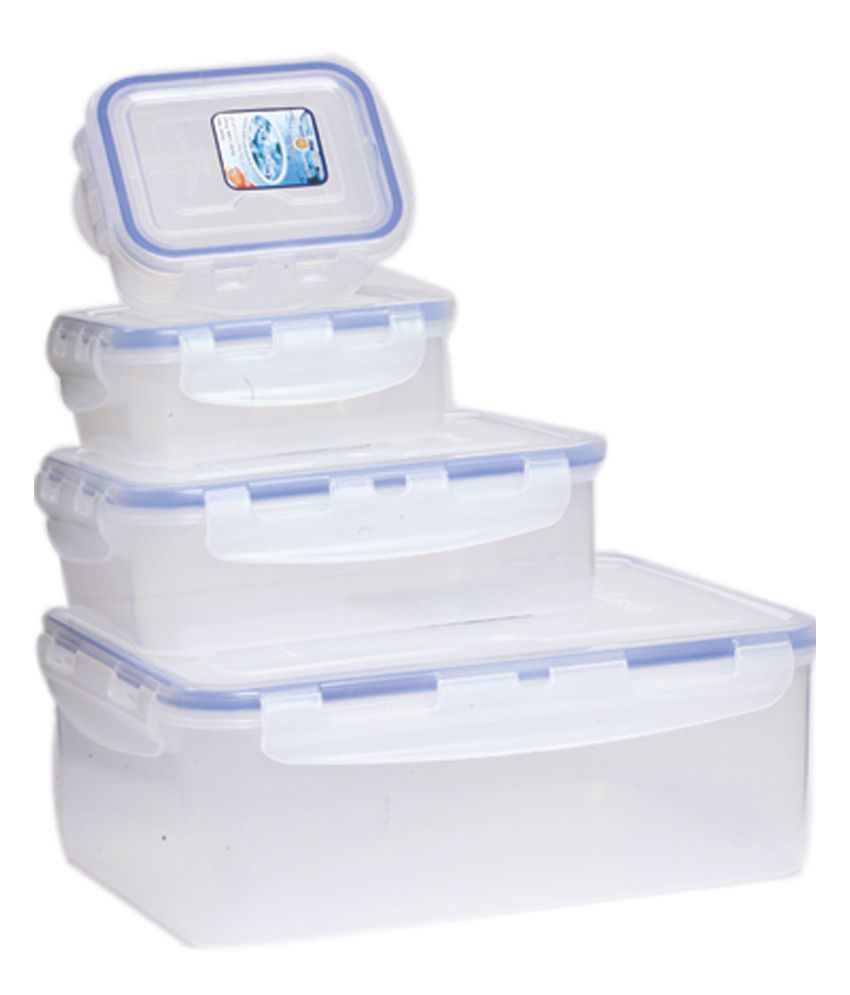 Superlock Kitchen Utility Plastic Storage Container White