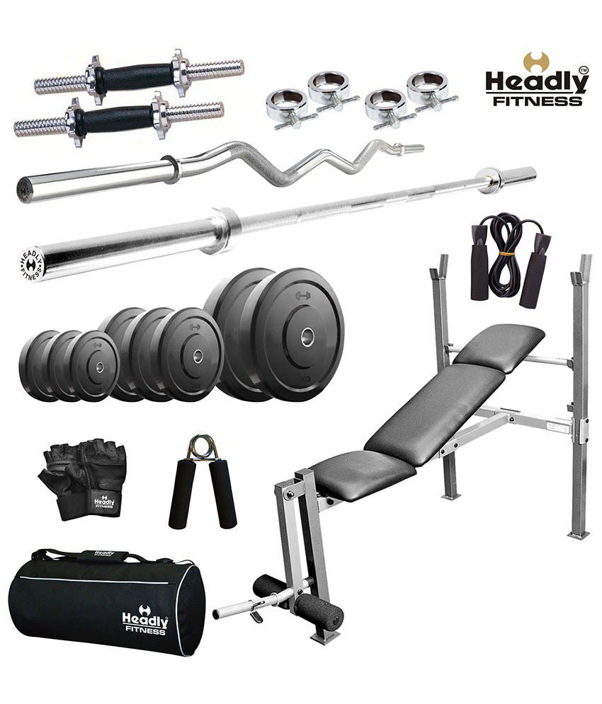 Headly kg efficient home gym with inches dumbbells rods