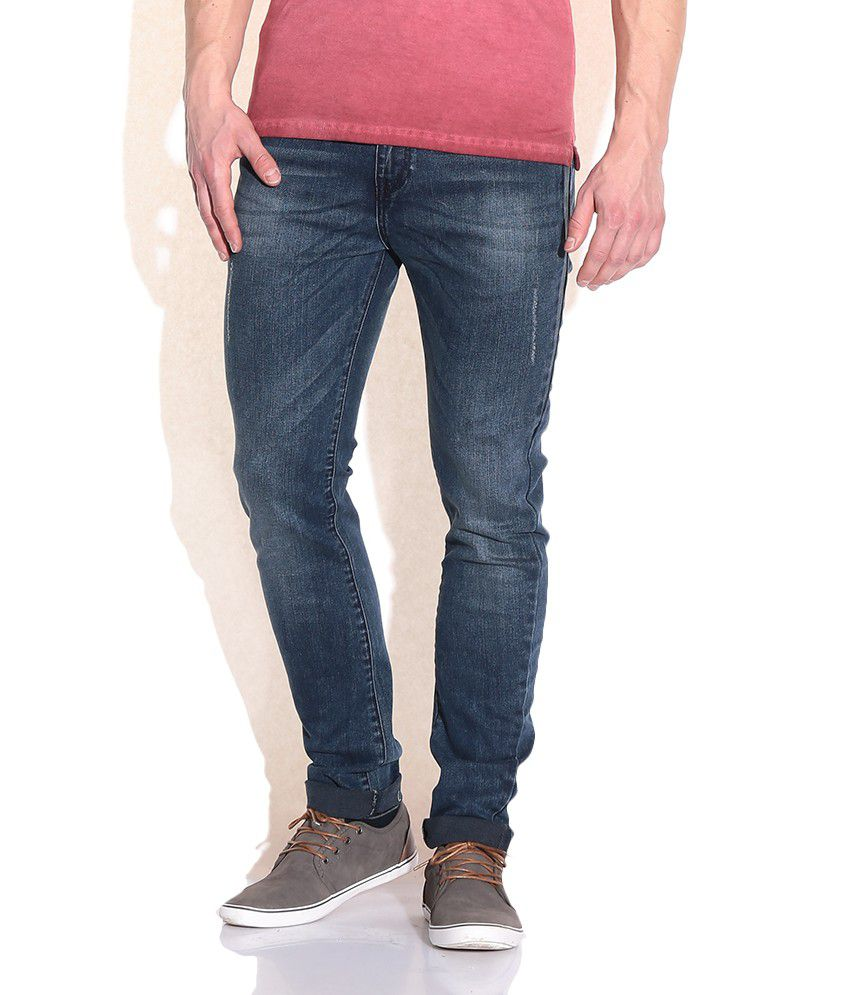 United Colors Of Benetton Blue Relaxed Jeans