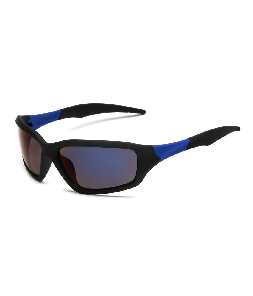 Elysin Blue Round Shape Non Metal Casual Sunglass