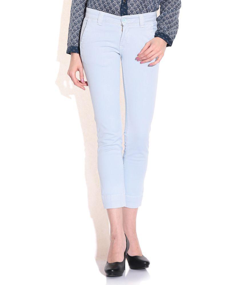 Pepe Jeans London Blue Cotton Trousers
