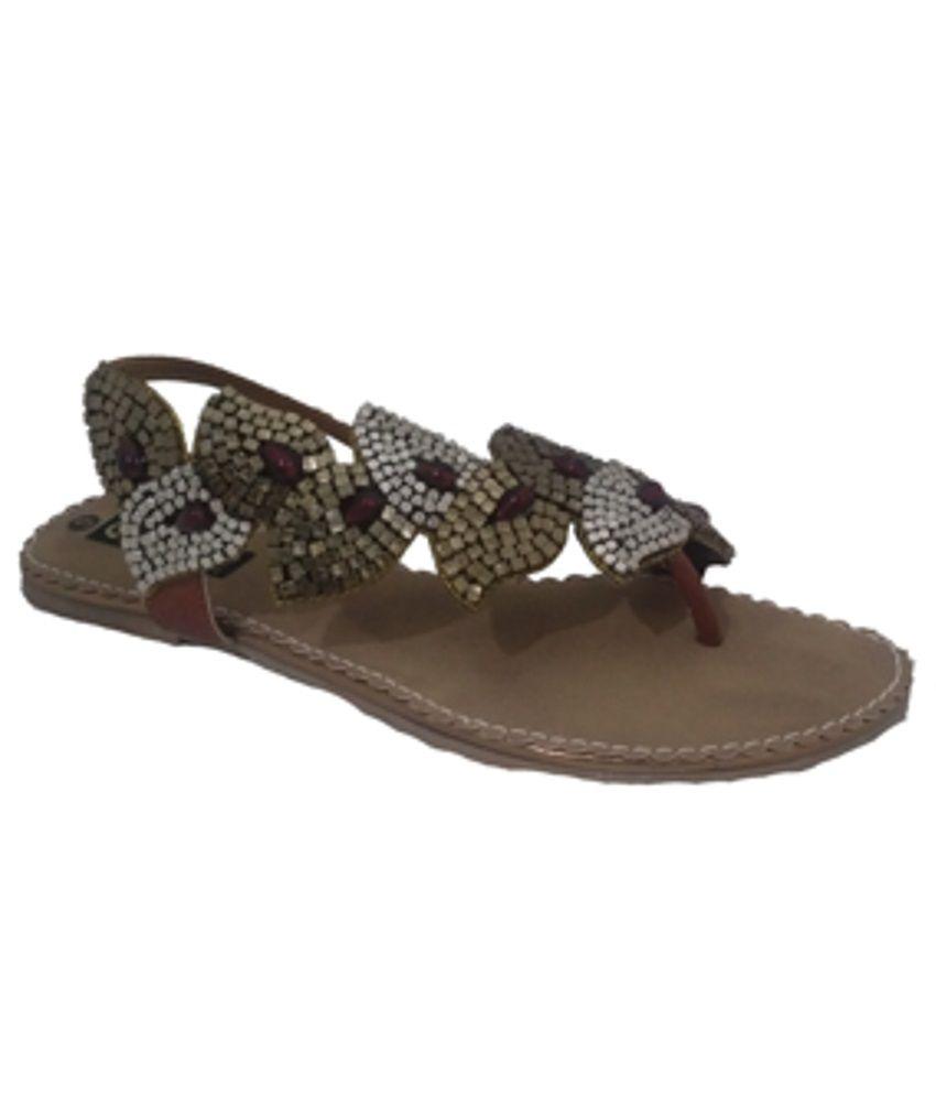 Senso Vegetarian Shoes Ladies Fancy Gold Sandals