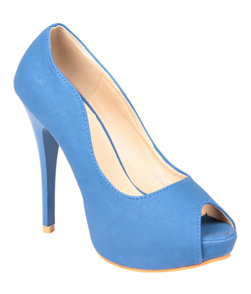Stepping Blue Stiletto Pumps