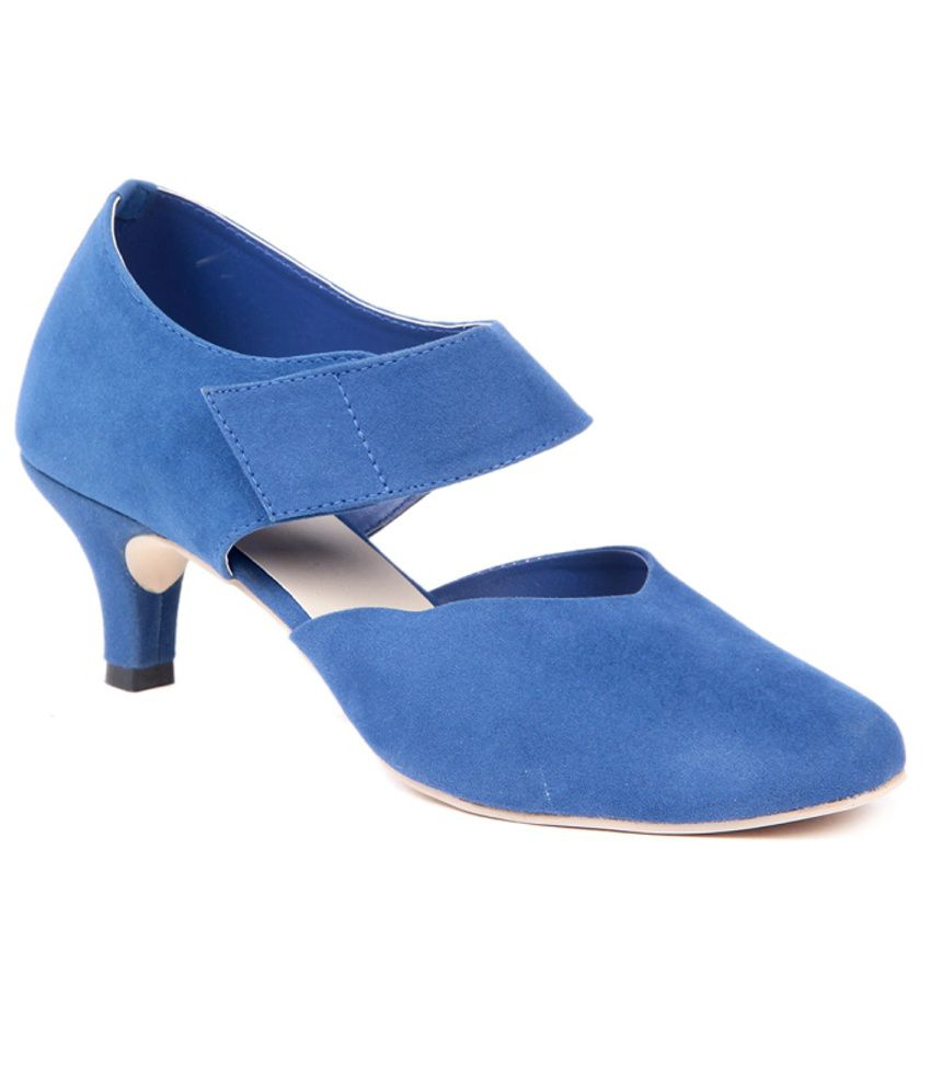 Ten Blue Stiletto Sandals