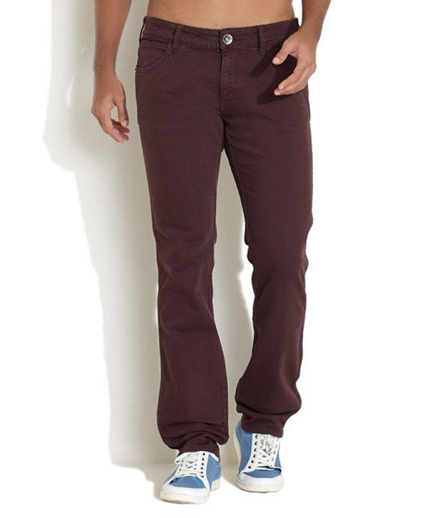Wrangler Brown Slim  Jeans