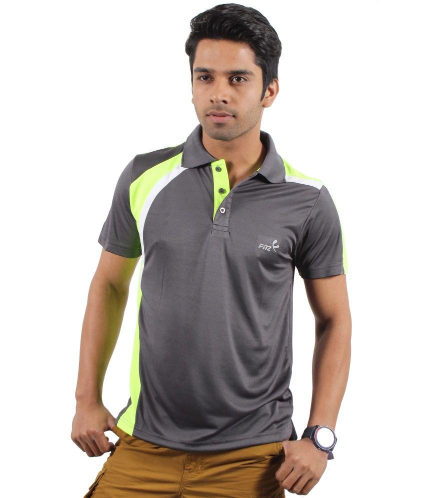 Fitz Gray Basics Polyester Polo T-shirt