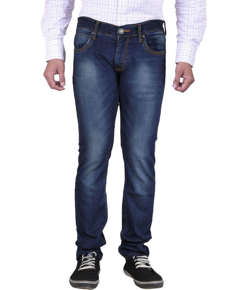 Skie Studio Blue Denim Slim Fit Basics Jeans For Men
