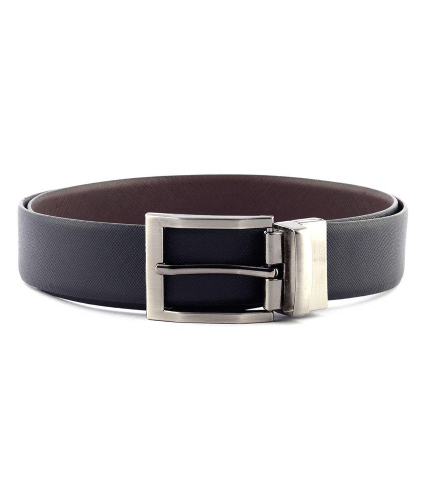 Buckleup Black Leather Reversible Pin Buckle Formal Belt For Men