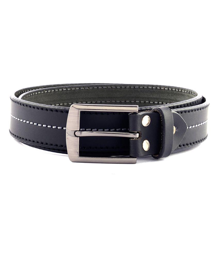 Buckleup Black Leather Single Pin Buckle Formal Belt For Men