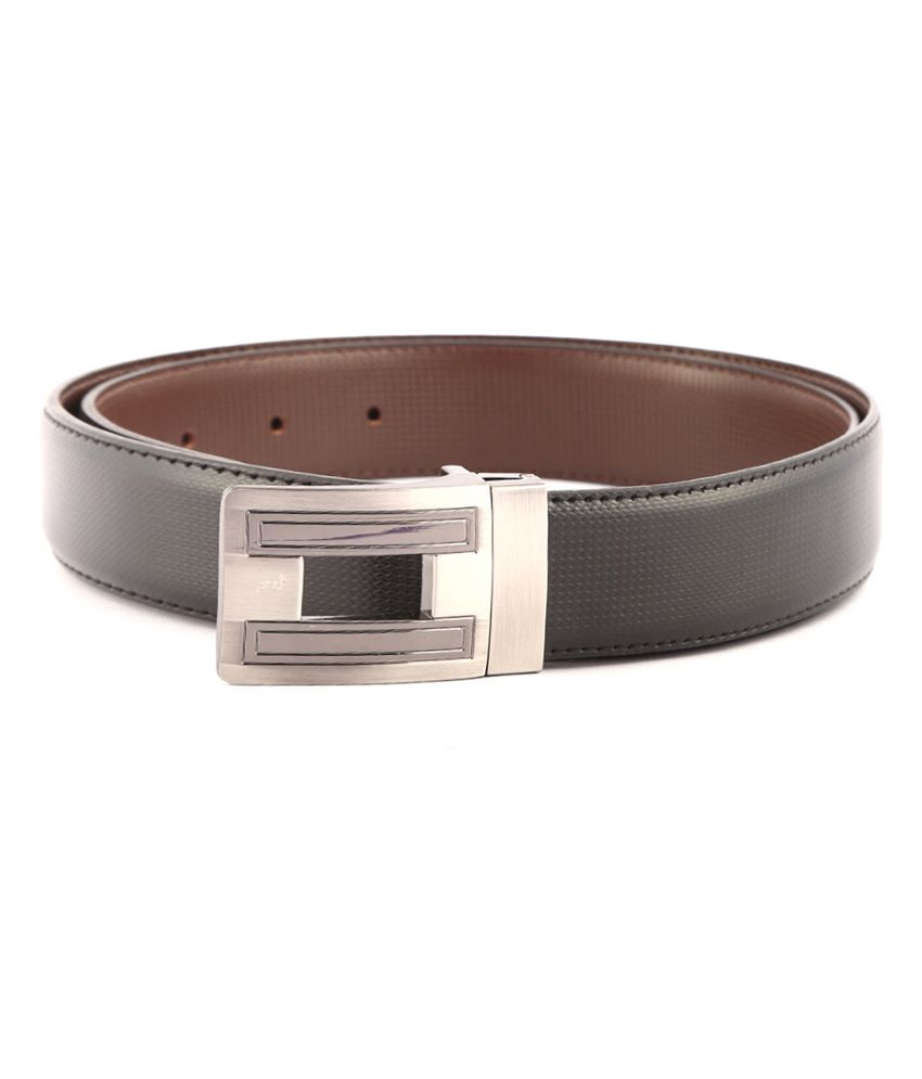 Buckleup Black Non Leather Reversible Pin Buckle Formal Belt For Men