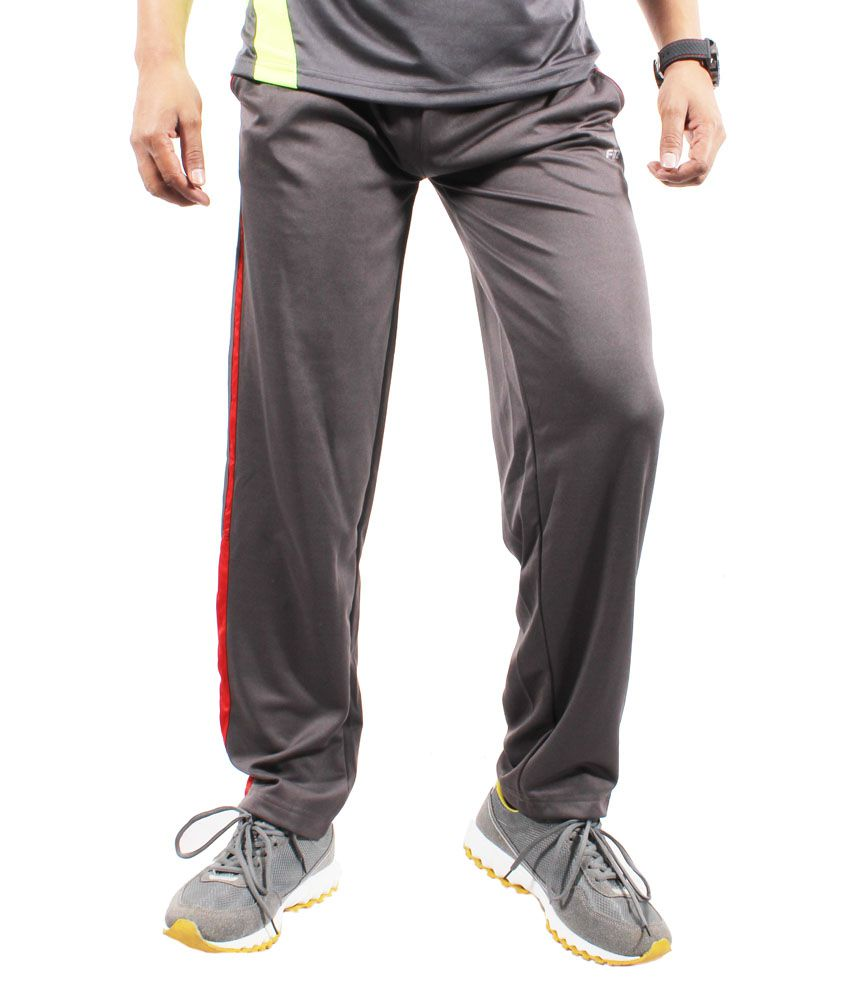 Fitz Gray Polyester Comfortable Trackpant