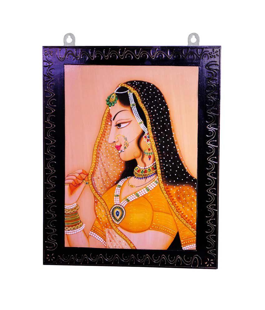 R S Jewels Wooden Handmade Bani Thani Designer Painting