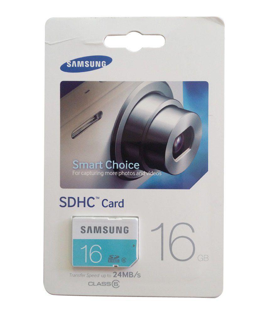 Samsung 16GB SDHC Memory Card Class 6