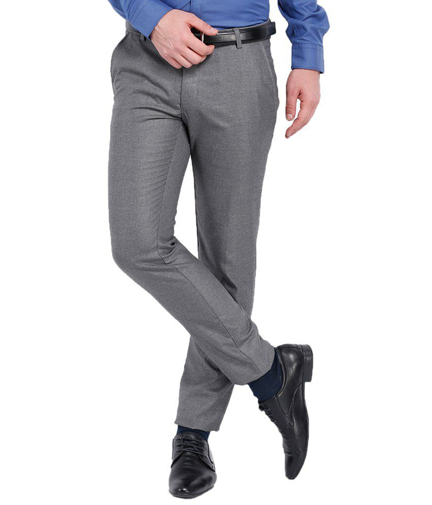 Black Coffee Gray Formal Trouser