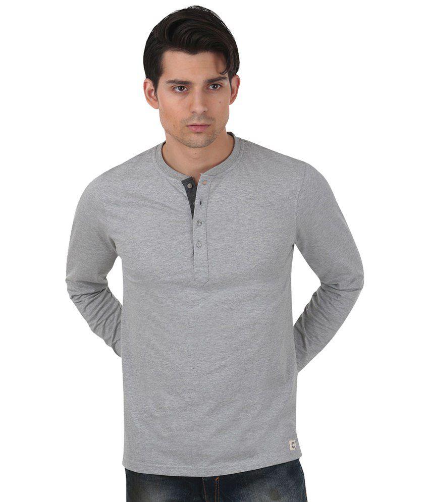 Freecultr Gray Basic T Shirt