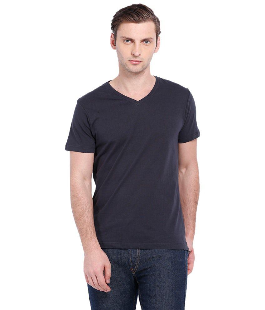 Highlander Navy Half Sleeves Basic T Shirt