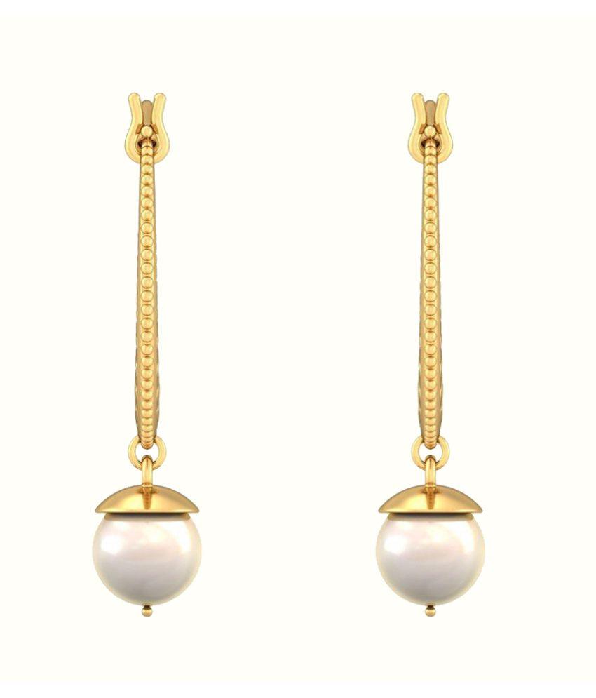 Jacknjewel White Pearl Earring
