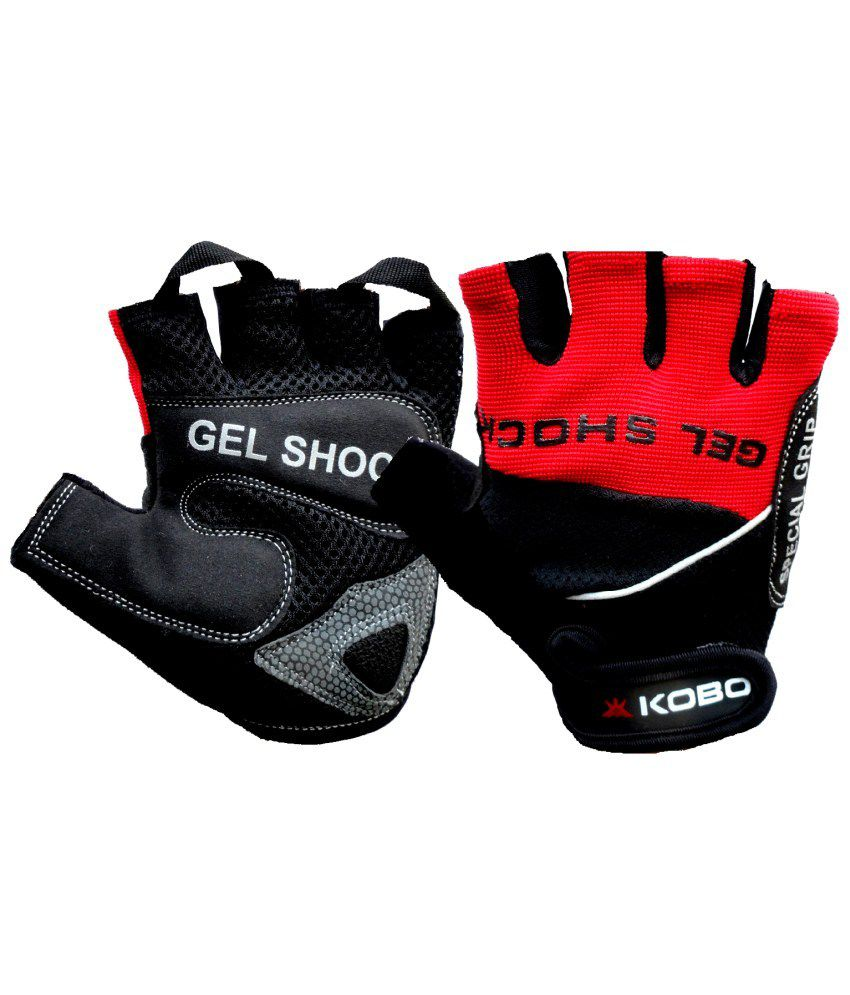 Buy leather hand gloves online india - Kobo Leather Bike Gloves