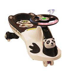Panda Uae360 Magic Swing Car White And Black With Panda Face