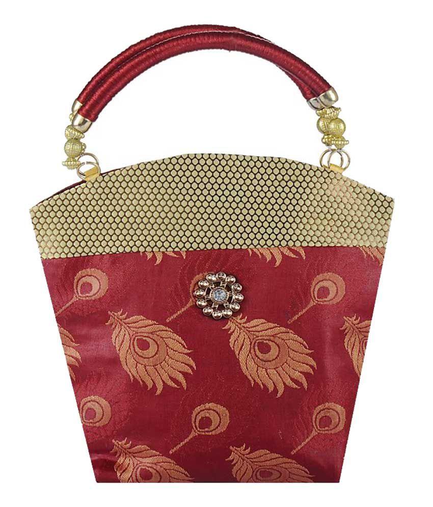 Ambrai Maroon Women Shoulder Bags
