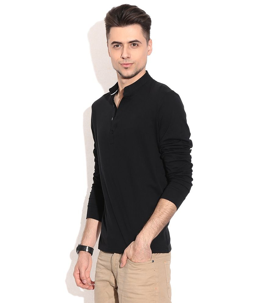 Black t shirt snapdeal -  Celio Black Cotton Full Sleeves T Shirt