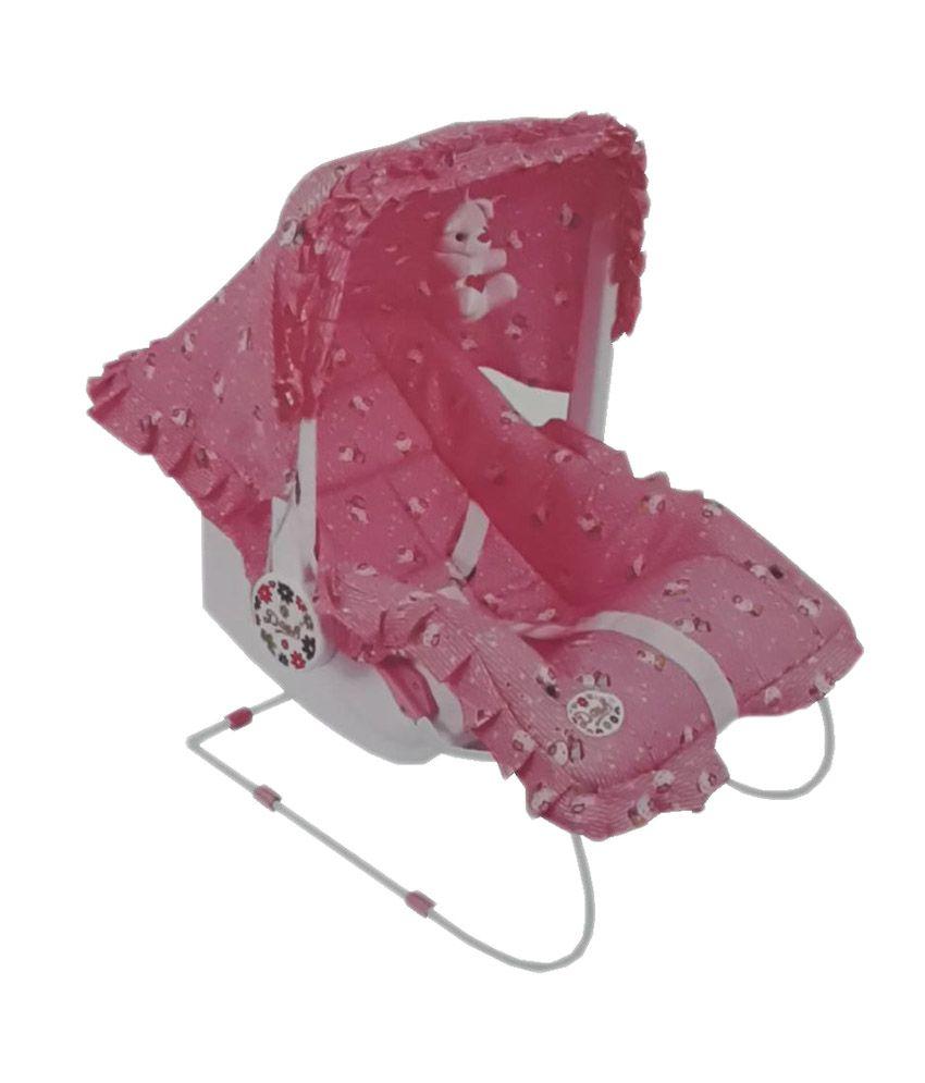 Baby bed online flipkart - Her Home Pink Premium 9 In 1 Baby Carry Cot Cum Rocker