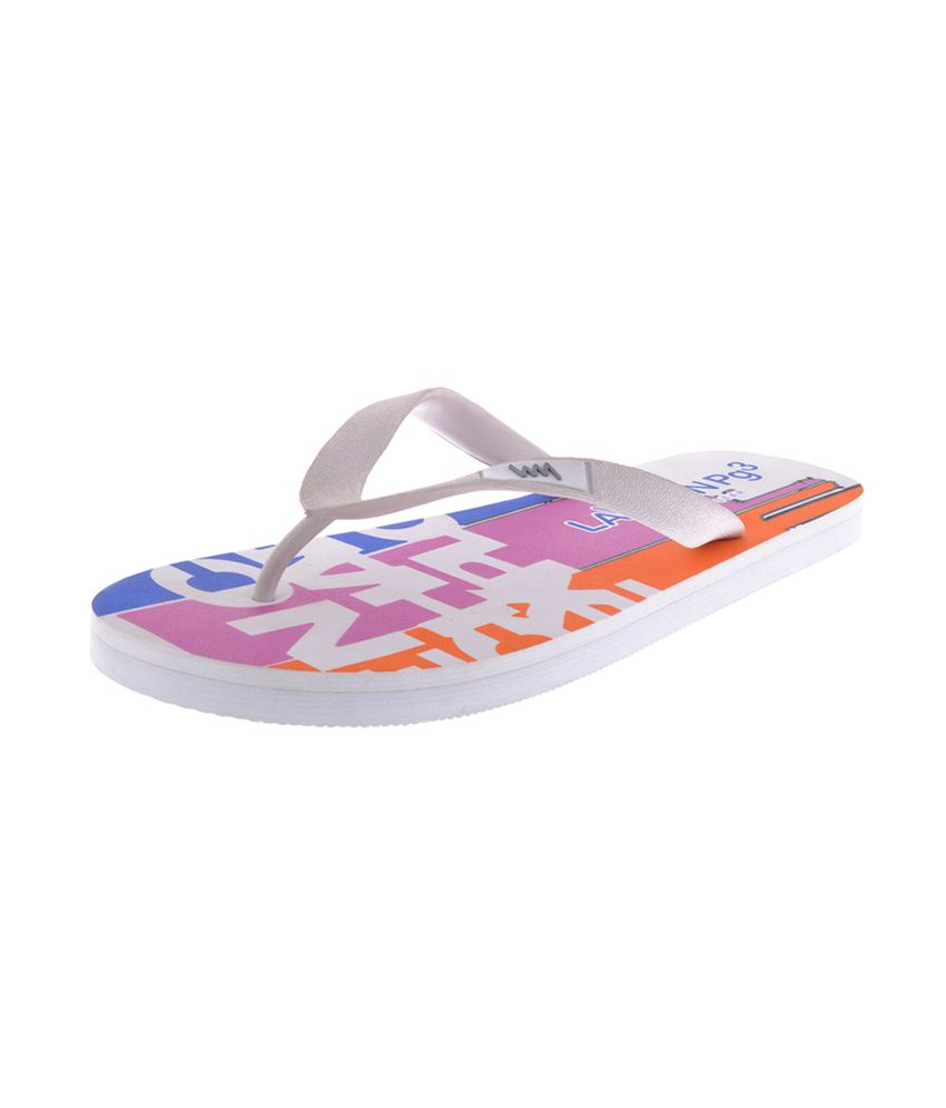 19a28b45980f Lawman Pg3 White Flip Flop Price in India- Buy Lawman Pg3 White Flip Flop  Online at Snapdeal