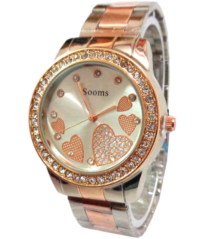 Sooms multicolor analog designer watch for women price in india buy sooms multicolor analog for Watches for girls