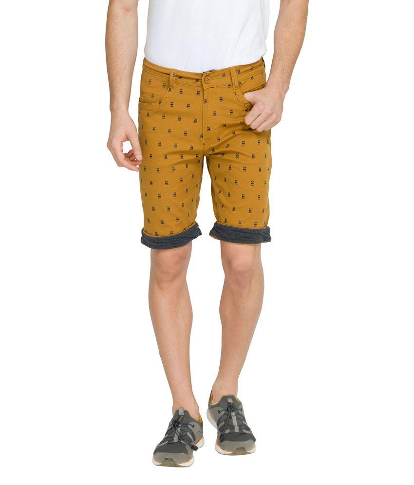 Teemper Orange Men Casual Shorts