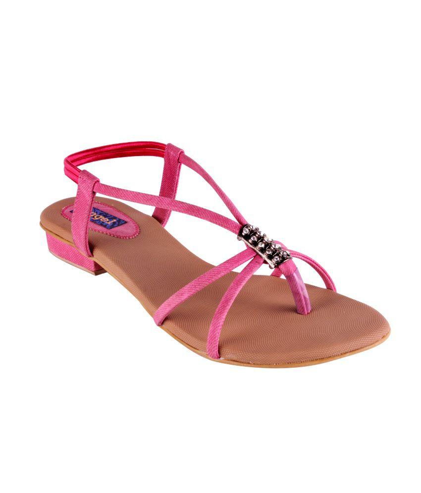 Angel Pink Women Flat Sandals